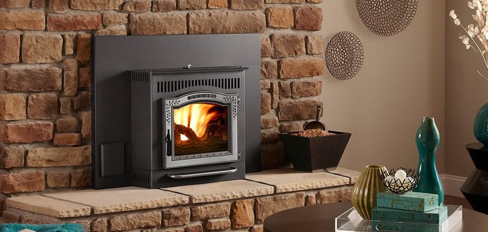 modern pellet stove