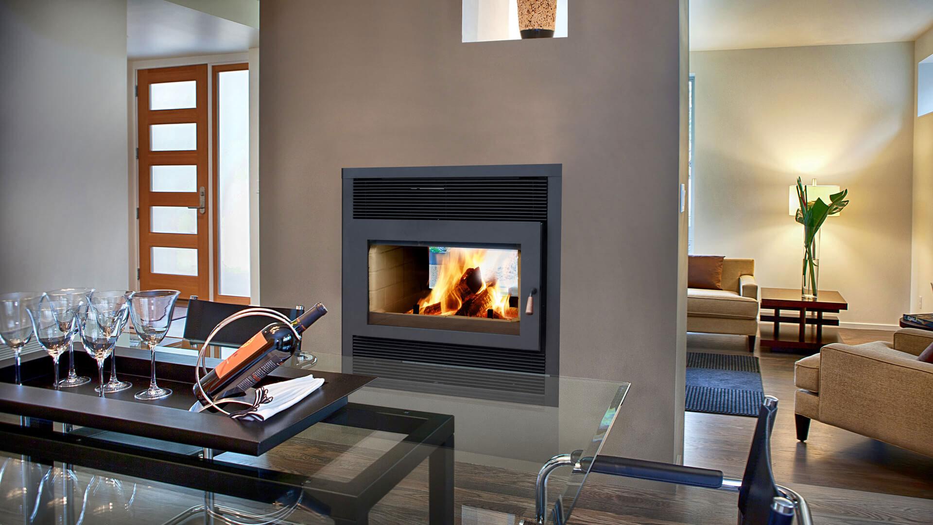 modern Propane fireplace