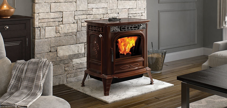 Propane fireplace with white mantel
