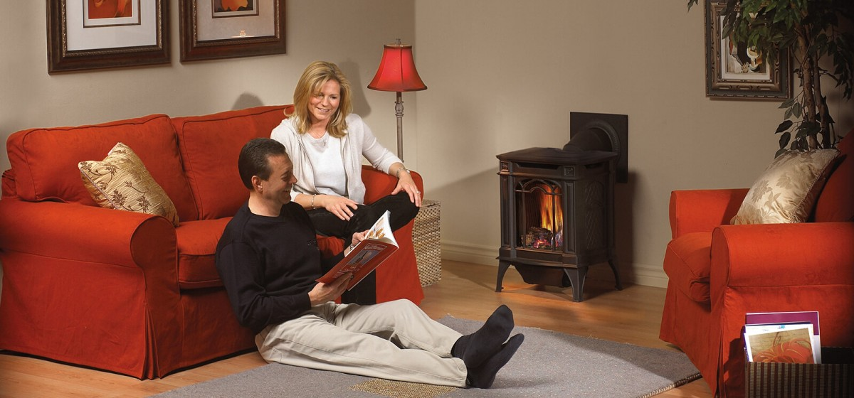 modern PROPANE GAS FIREPLACE